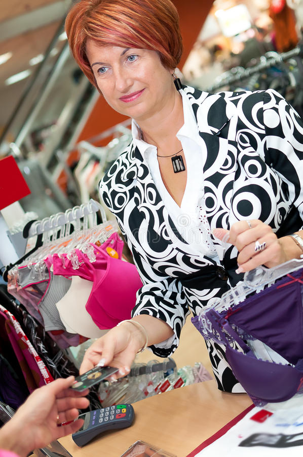 Shop Assistant Stock Photography