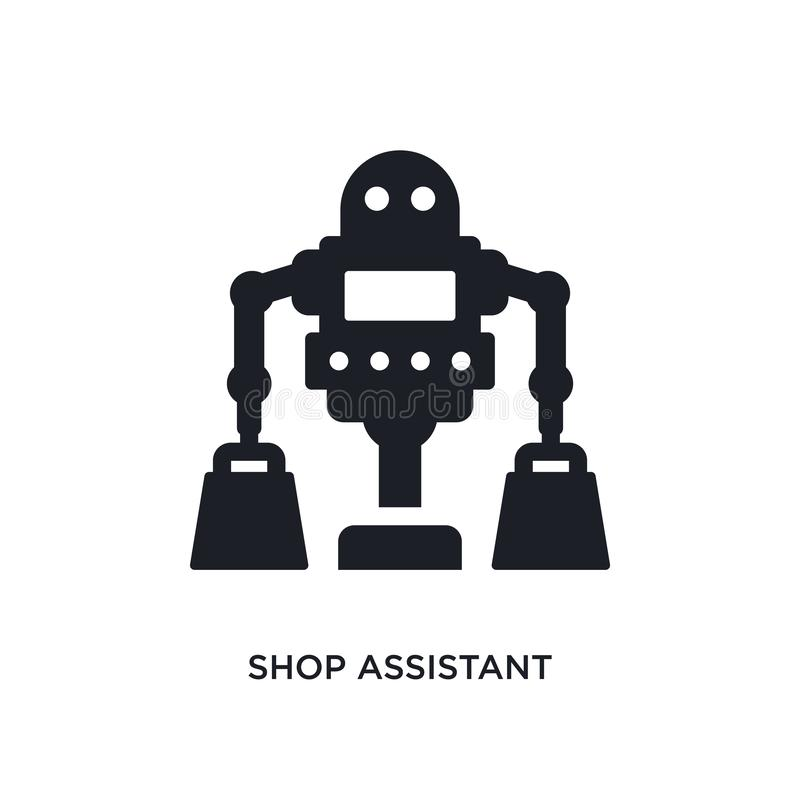 shop assistant isolated icon. simple element illustration from artificial intelligence concept icons. shop assistant editable logo royalty free illustration