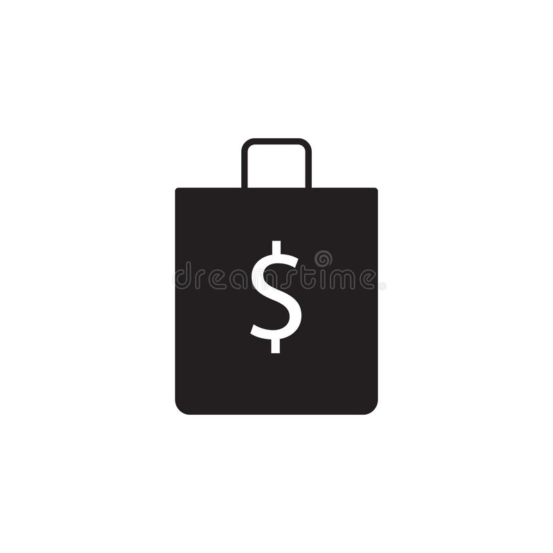 Shop, bag, dollar icon. Signs and symbols icon can be used for web, logo, mobile app, UI, UX stock illustration