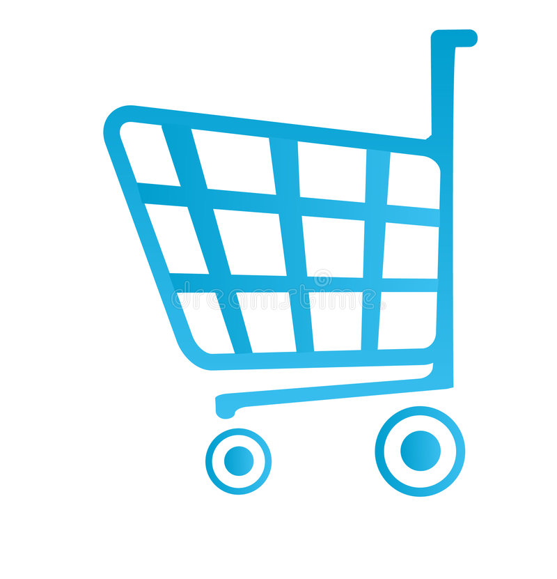 Shop basket icon stock illustration