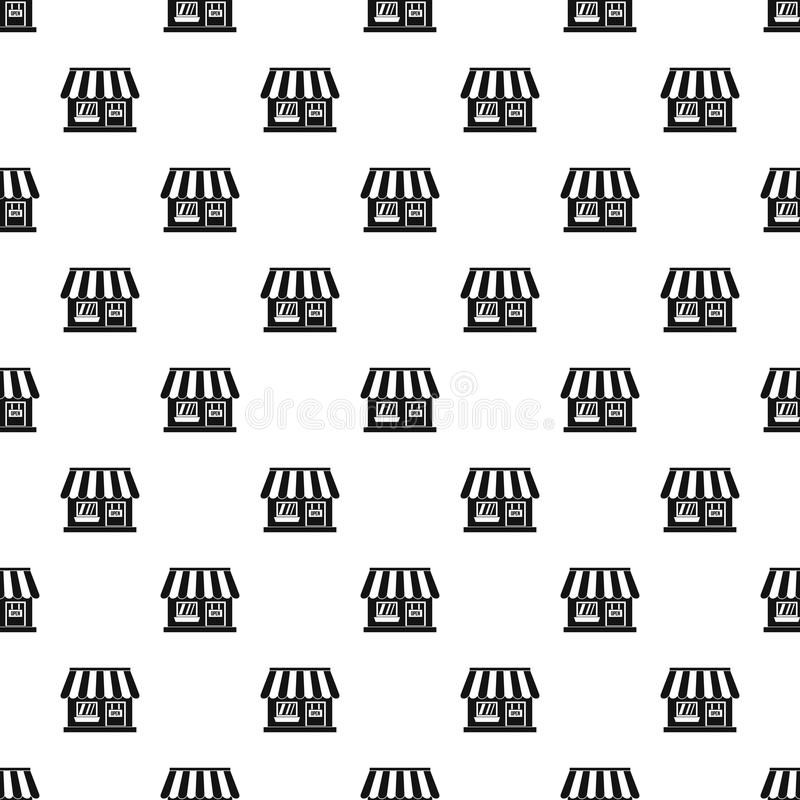 Free Shop Building Pattern, Simple Style Stock Images - 83926984