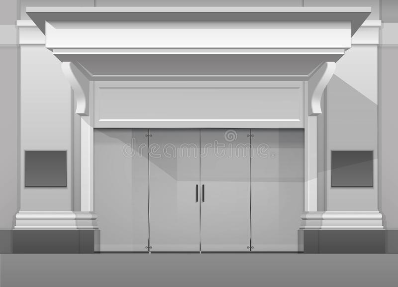 Shop building store front with closed glass door stock vector download shop building store front with closed glass door stock vector illustration of street planetlyrics Gallery