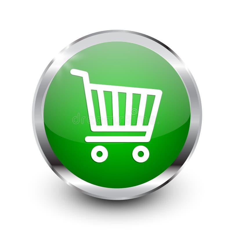 Shop cart button icon, buy symbol. Shopping basket icon – stock vector. Shop cart button icon, buy symbol. Shopping basket icon – vector royalty free illustration