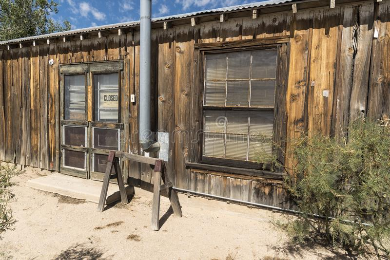 Shop at Cima Station Mojave Preserve. Cima is a small unincorporated community in the Mojave Desert of San Bernardino County, California, in the United States royalty free stock image