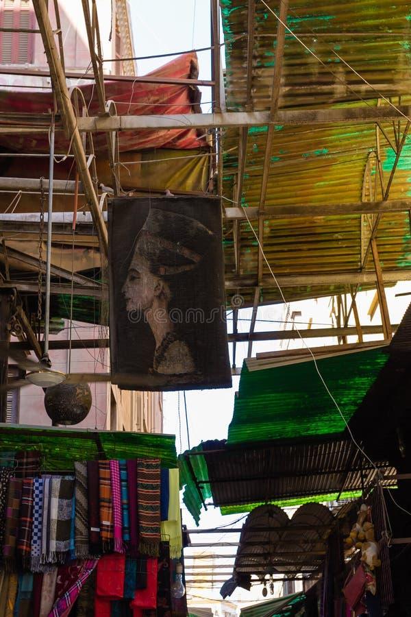 Shop-Dach bei Khan el-Khalili Bazaar, Kairo in Ägypten lizenzfreie stockfotografie