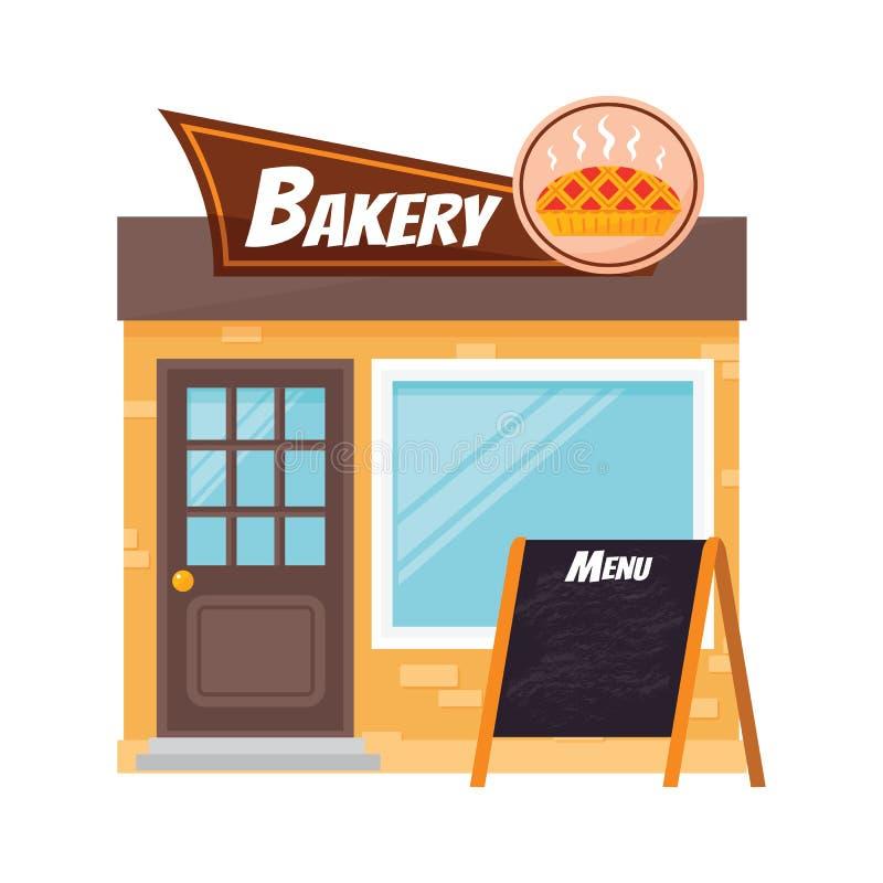Download Shop facade vector. stock vector. Illustration of outside - 83714251