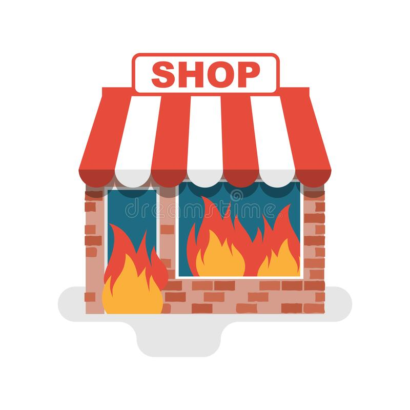 Fire Damage Store Stock Illustrations 6 Fire Damage Store Stock Illustrations Vectors Clipart Dreamstime