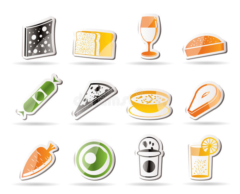 Shop, food and drink icons 2. Icon set vector illustration
