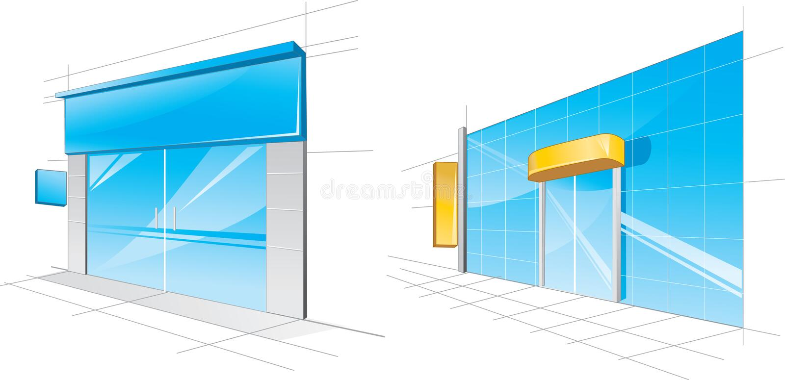 Download Shop front stock vector. Image of pattern, front, window - 11352936