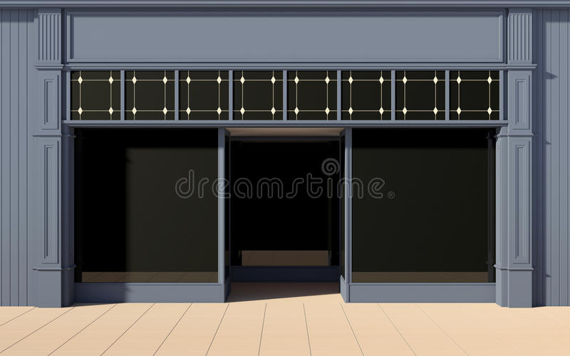 Download Shop front facade stock image. Image of rustic, shade - 26076067