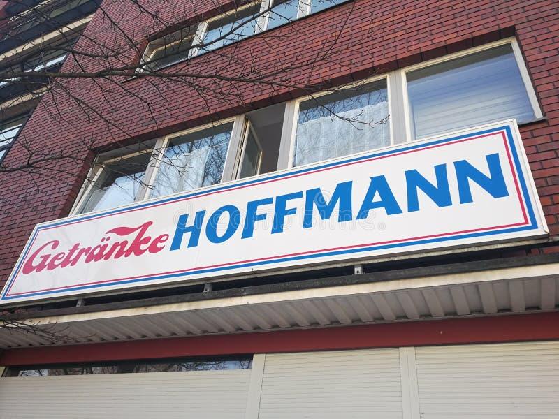Shop Getranke Hoffmann stockbilder