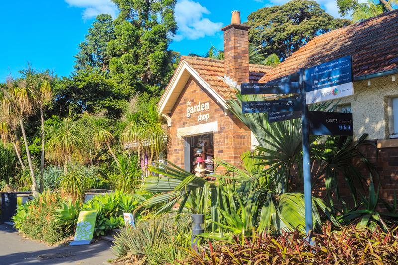 `The Garden Shop`, Royal Botanic Garden, Sydney, Australia. This shop in the grounds of the Royal Botanic Garden, Sydney, sells gardening books, seeds, hats, and royalty free stock images