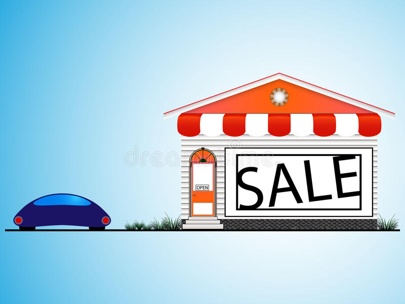Download Shop house stock vector. Image of sale, retail, door - 23361322