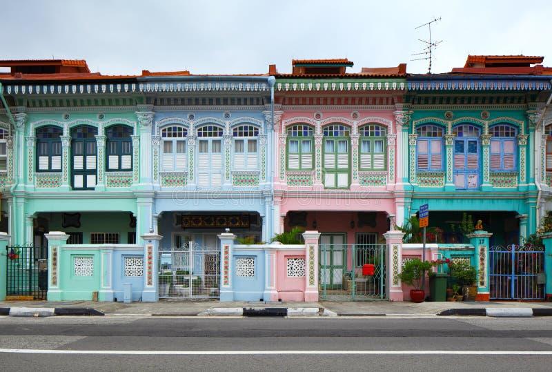 Shop house in Singapore stock photos
