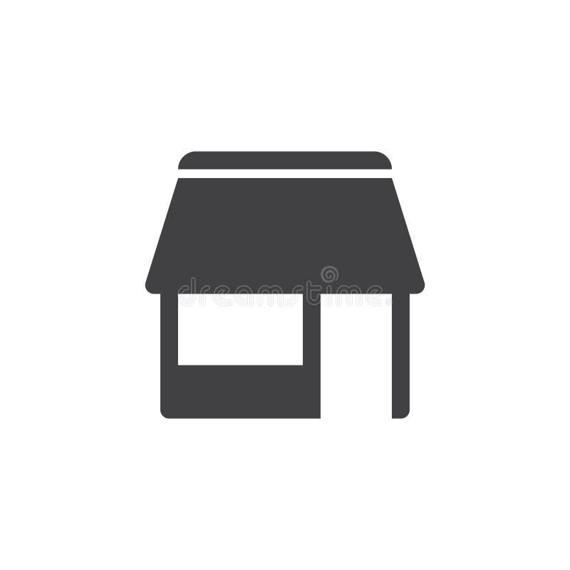 Shop icon , market solid logo illustration, pictogram isol. Shop icon , store solid logo illustration, market pictogram isolated on white vector illustration
