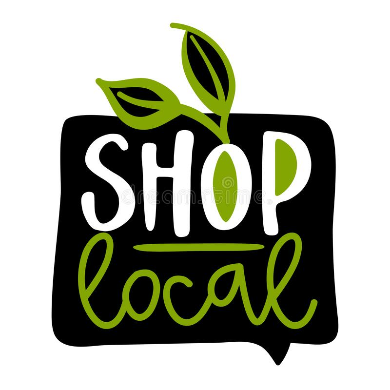 Free Shop Local - Support Local Business, Buy Local Products. Stock Photo - 173207750