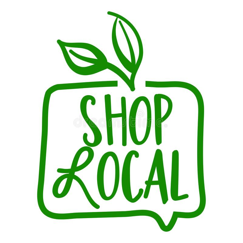 Free Shop Local - Support Local Business, Buy Local Products. Stock Photo - 173207860