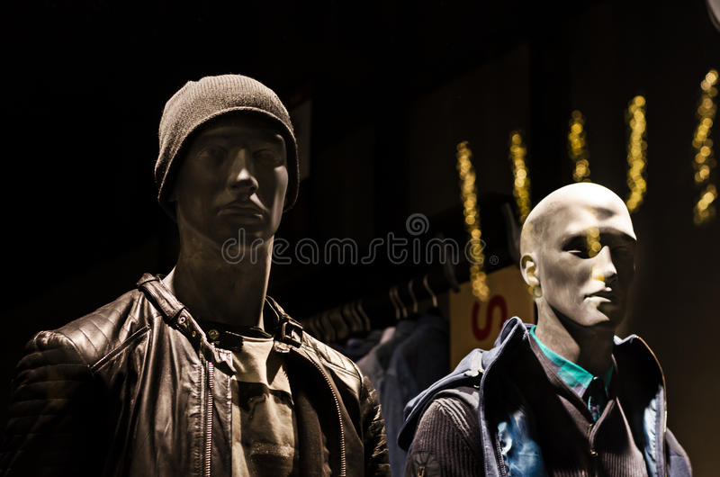 Shop mannequin males royalty free stock photo