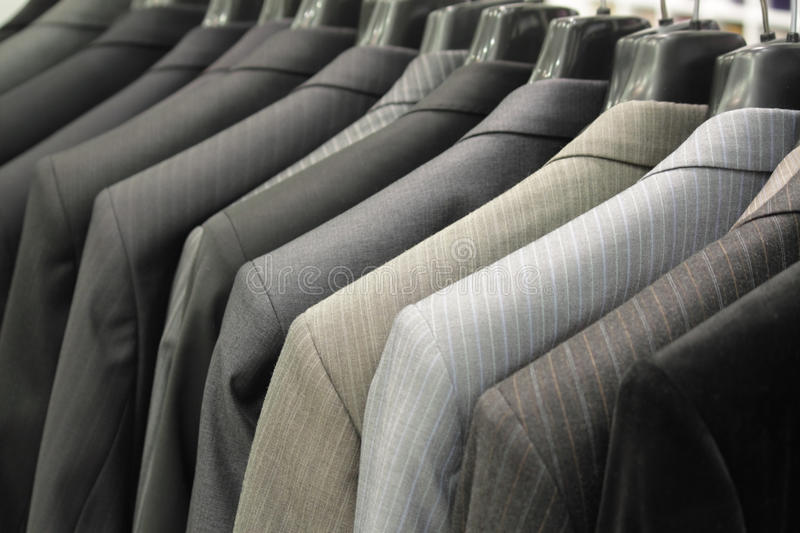 Shop for men's clothing royalty free stock images