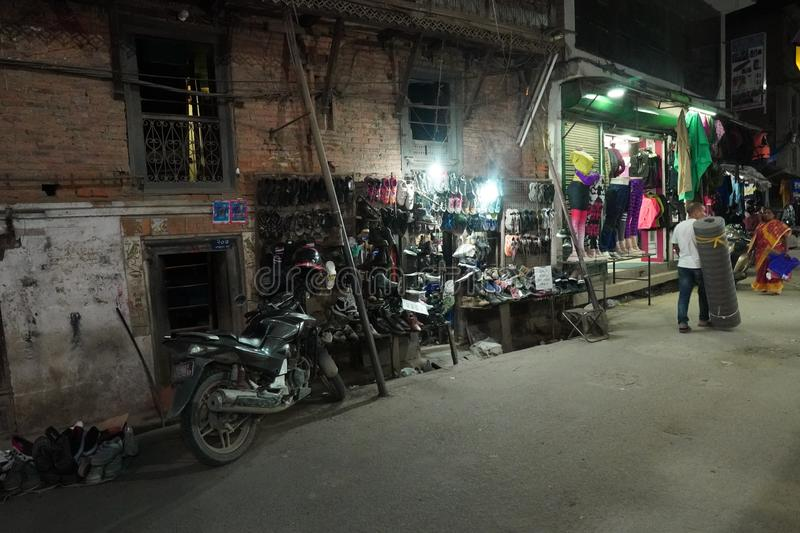 Small shop at night in Kathmandu, Nepal. Shop at night in Kathmandu, Nepal royalty free stock photography