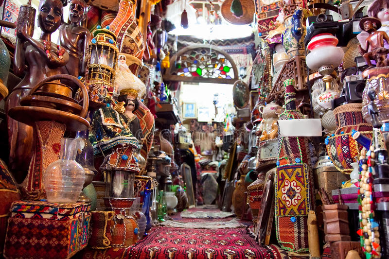 Shop of Persian carpets, Shiraz, Iran. Shop of Persian carpets (Iranian carpets and rugs), Shiraz, Iran royalty free stock photography