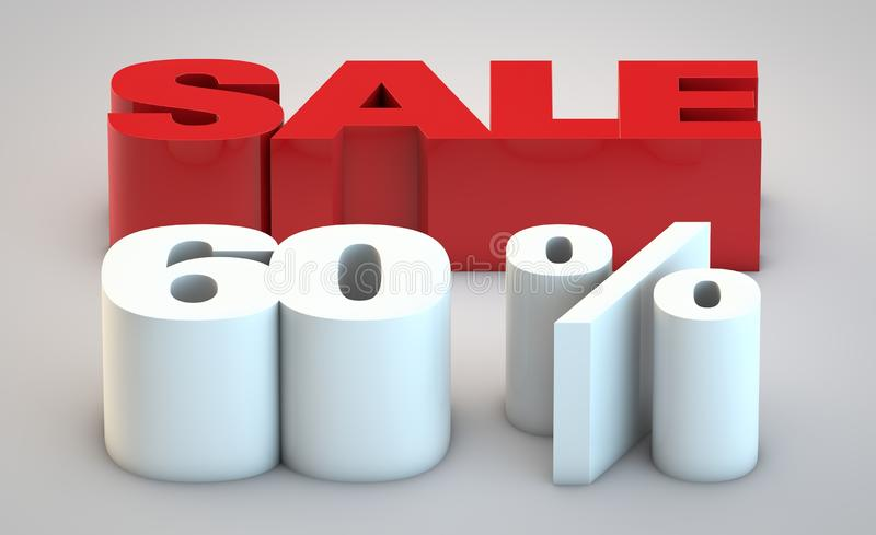 Sale - price reduction of 60 vector illustration
