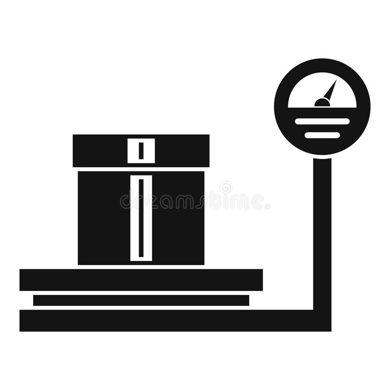 Shop scales icon, simple style royalty free illustration