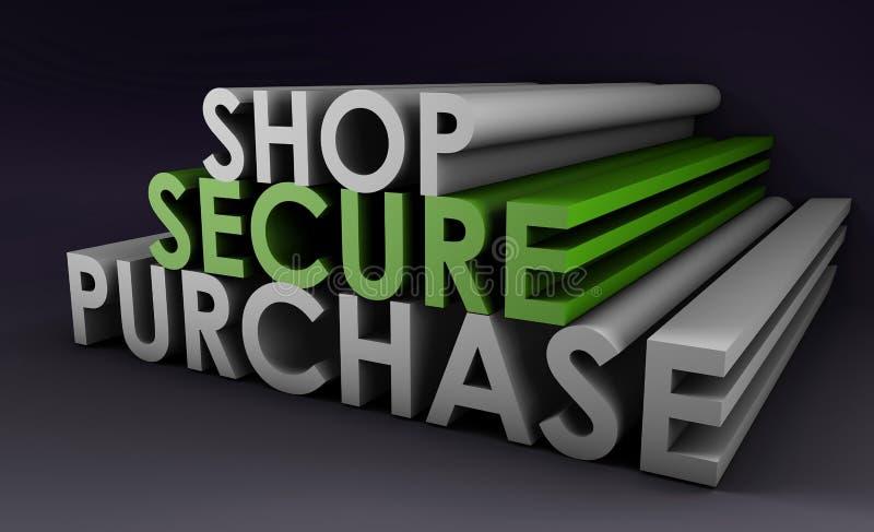 Shop Securely Online stock illustration