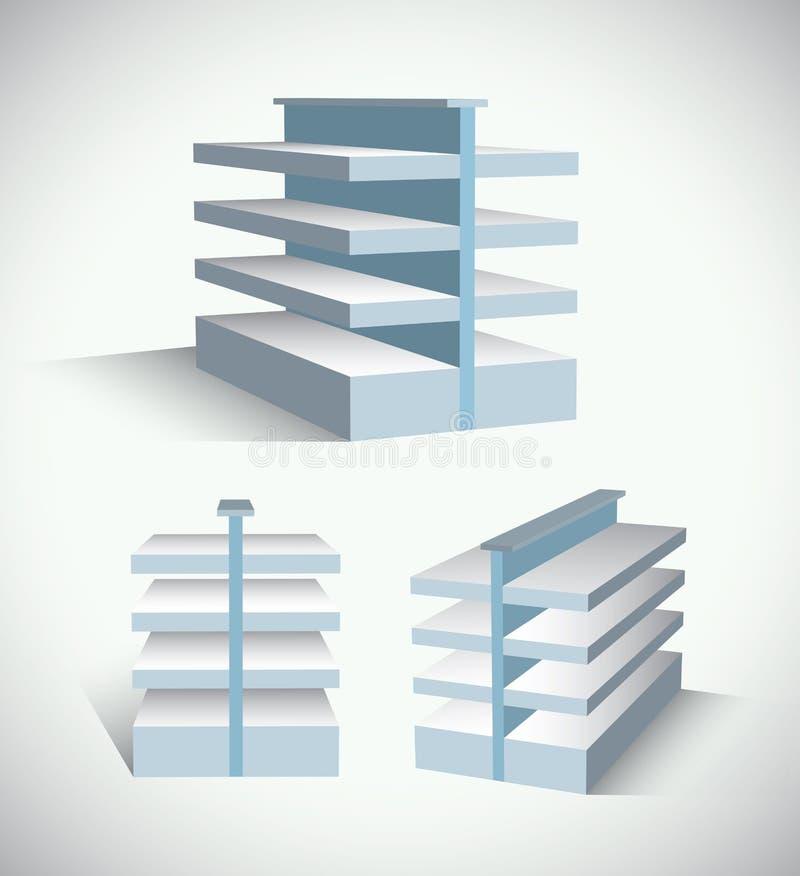 Download Shop shelves structure stock vector. Image of bookshelf - 18609913