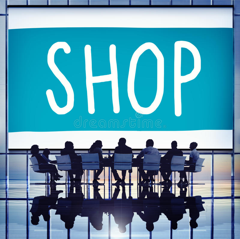 Shop Shopping Department Marketing Commerce Concept royalty free stock photos