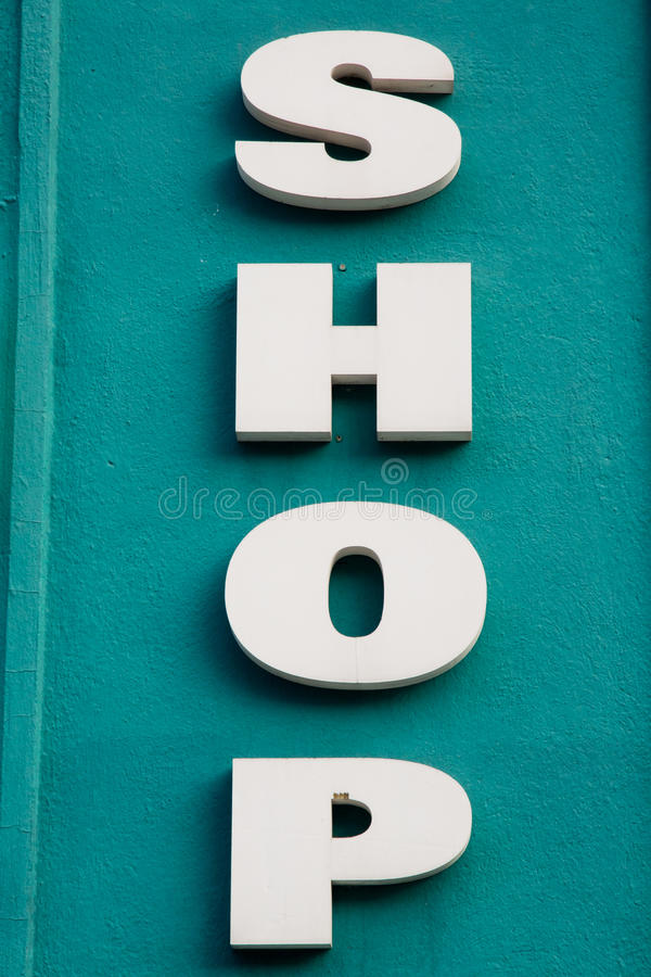 Download Shop sign stock image. Image of letters, selling, shopping - 27812827