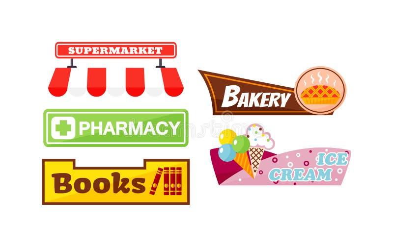 Shop signboard illustration. vector illustration