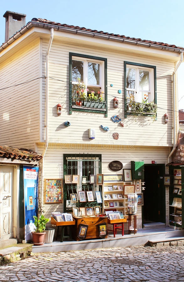 Shop with souvenirs stock images