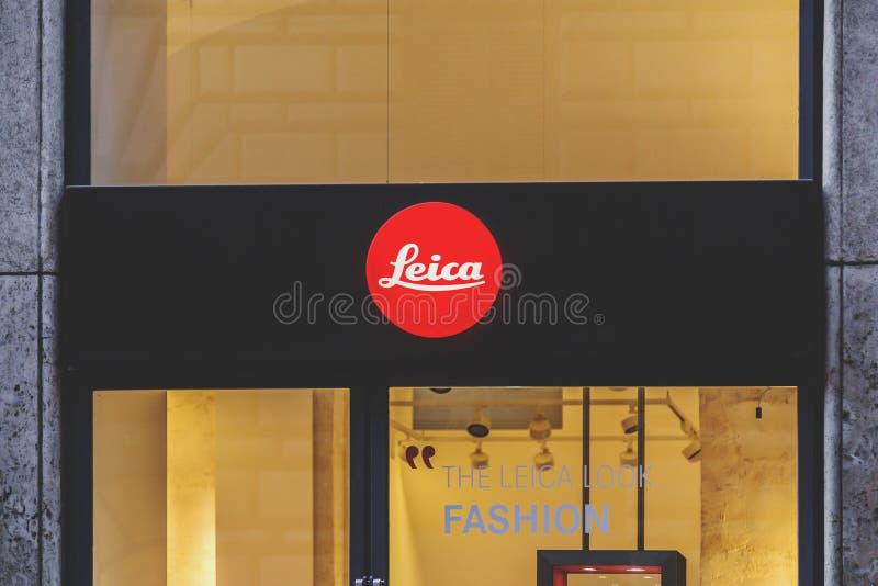 Shop window of Leica stock photos
