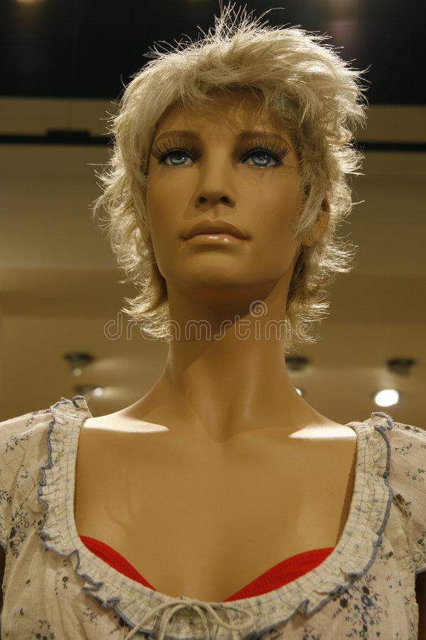 Shop window mannequin royalty free stock images
