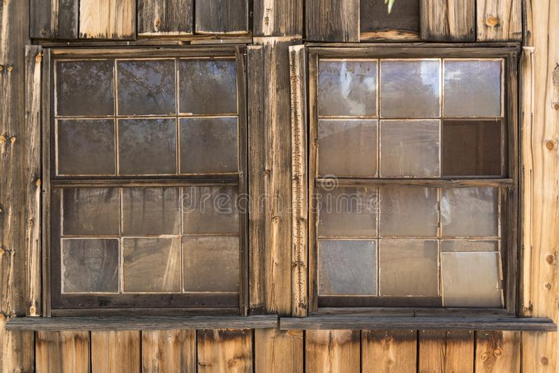 Shop Windows at Cima Station Mojave Preserve. Cima is a small unincorporated community in the Mojave Desert of San Bernardino County, California, in the United royalty free stock image