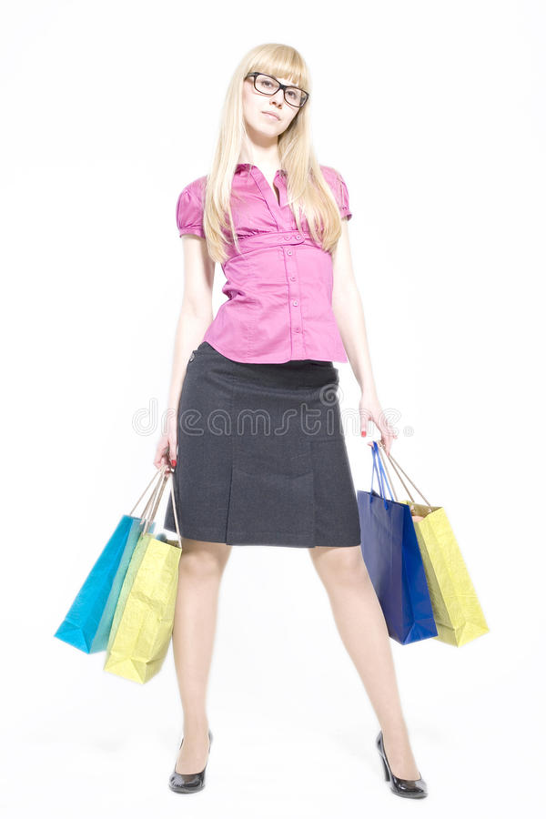 Shopaholic lizenzfreies stockbild