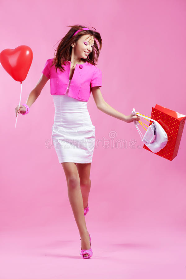 Download Shopaholic stock photo. Image of person, expression, glamour - 11891830