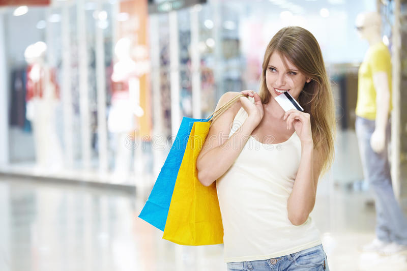 Download Shopaholic stock image. Image of indoors, gift, customer - 16008017