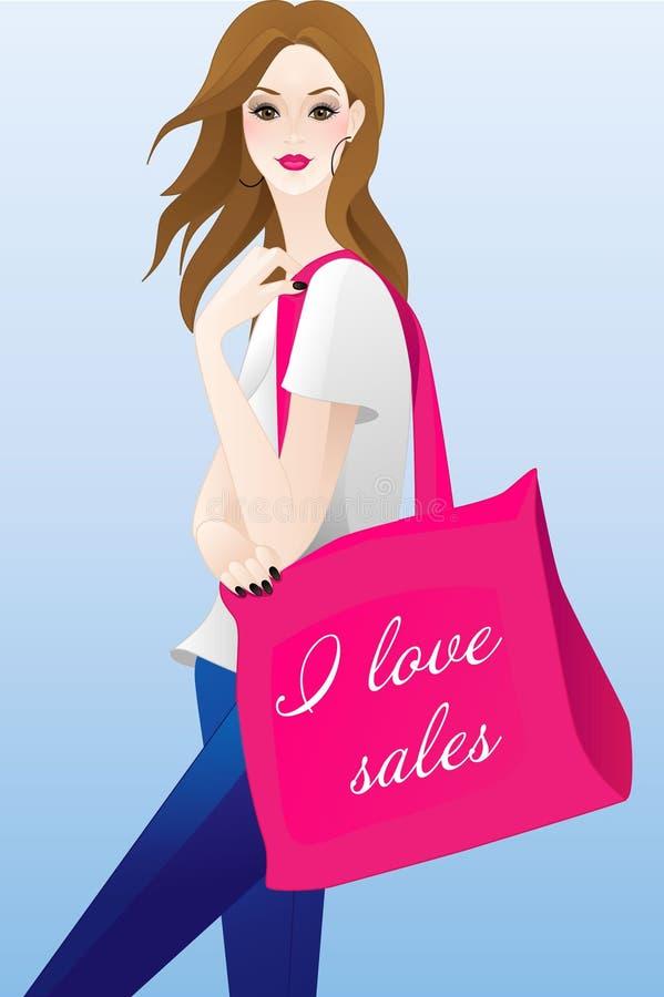 Shopaholic libre illustration