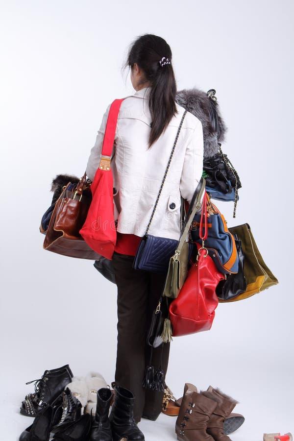 Shopaholic stock fotografie