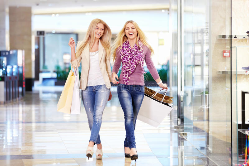 Shopaholic photographie stock