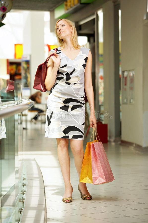 Shopaholic photo stock