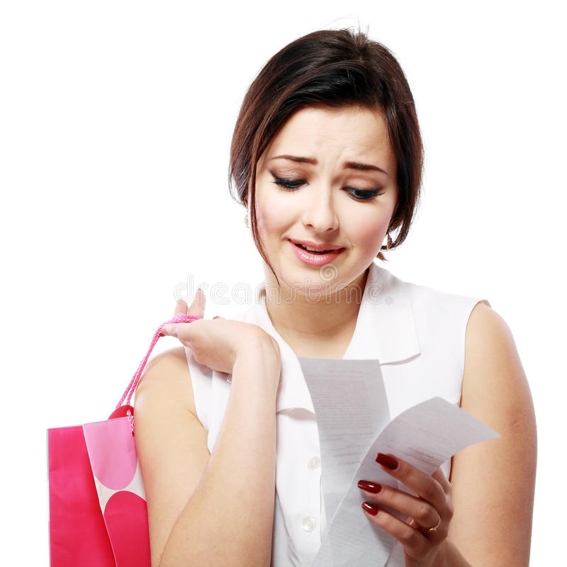 Shopaholic overspending stock photos