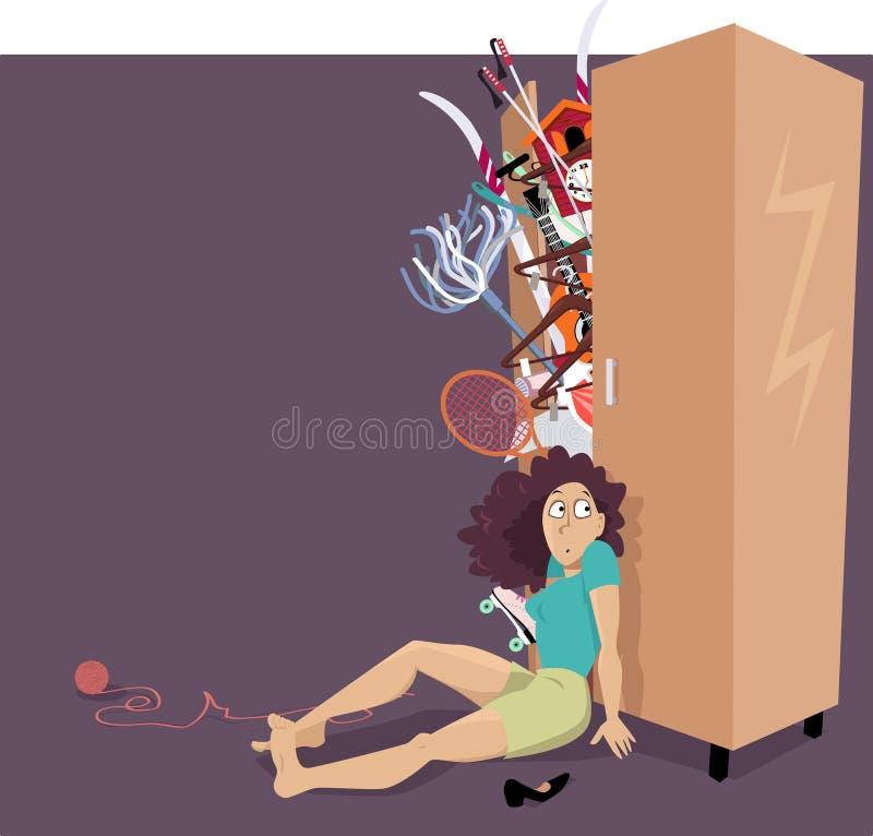 Shopaholic& x27; problema de s ilustração do vetor