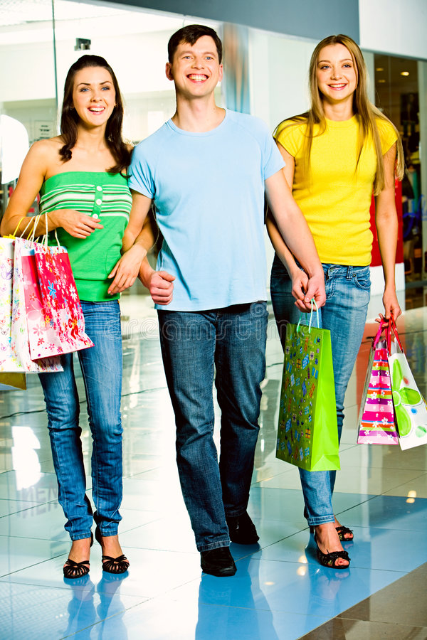 Download Shopaholics stock photo. Image of cheerful, happiness - 4699928
