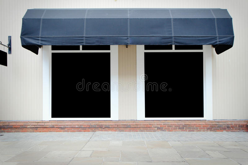 Download Shopfront Vintage Store Front With Canvas Awnings Stock Photo