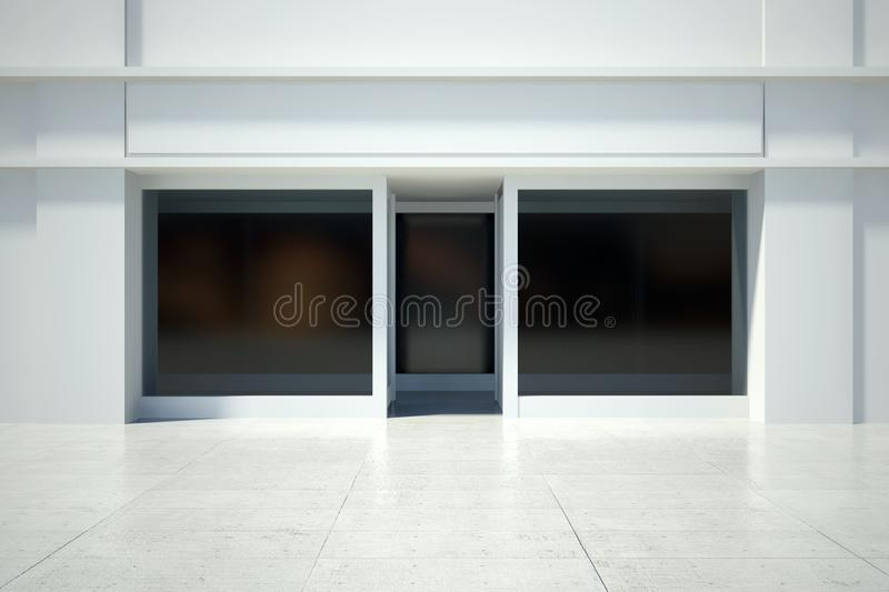 Shopfront window in modern building. Shopfront windows in modern building royalty free illustration