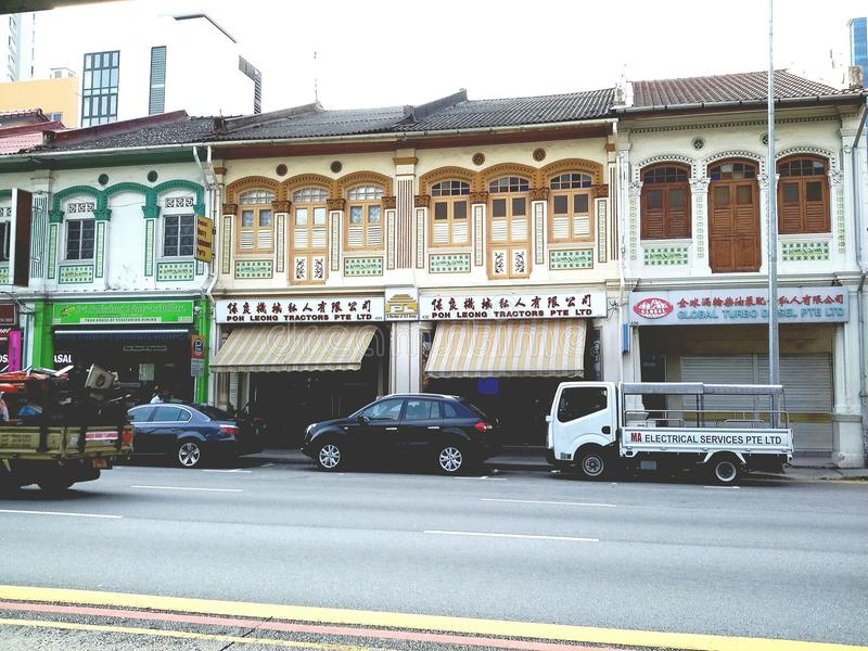 Shophouses fotografia stock libera da diritti