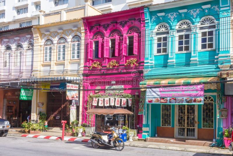 Shophouses colorés image libre de droits